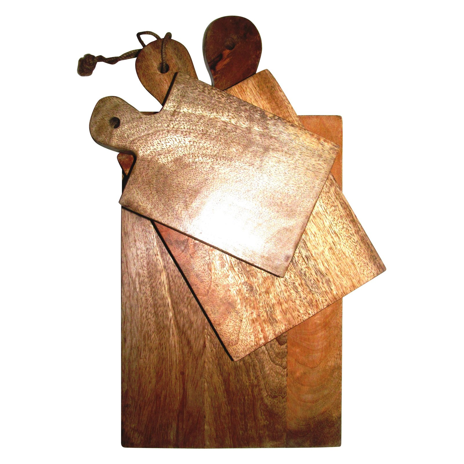 A and B Home Perrine Mango Wood Cutting Boards Set Of 3 by A & B Home Group Inc