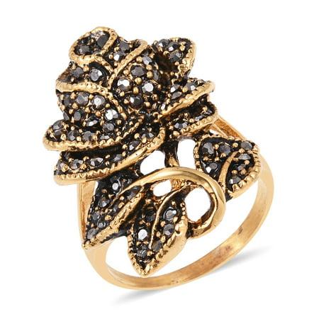 Hematite Ring - Hematite Rose Ring Gift Hypoallergenic Steel Jewelry
