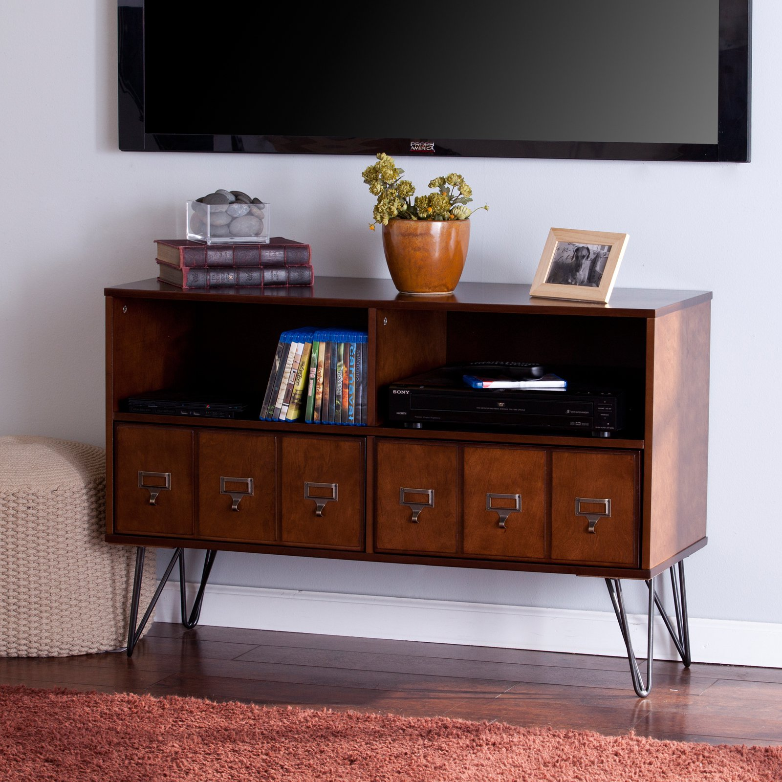 Southern Enterprises Blankenship 46 in. Media Console - Whisky Maple