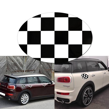 Xotic Tech 1x Black White Checkered Sticker Decal For Mini Cooper