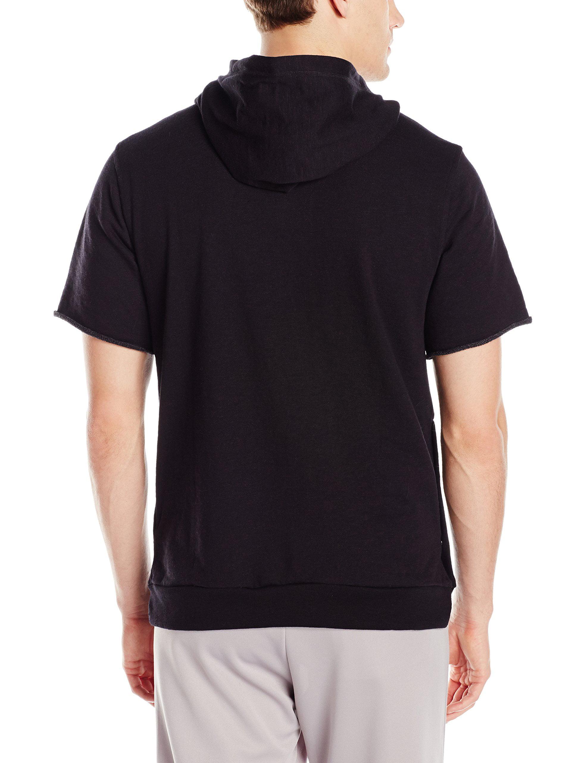 adidas Mens Basketball Cross Up Short Sleeve Hoodie