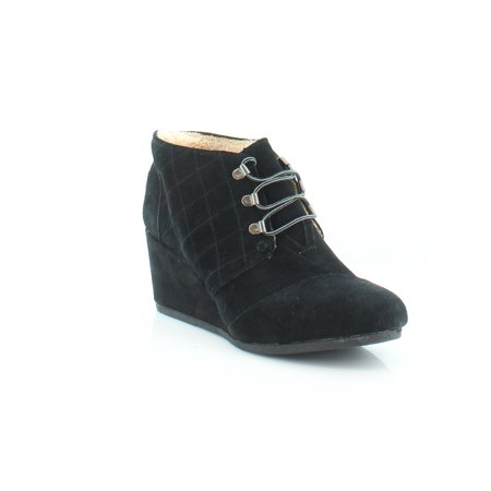 TOMS Desert Wedge Women's Boots Black Size 10 M for $<!---->