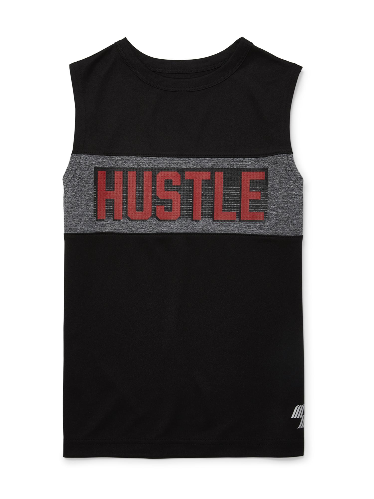 """Hustle"" Muscle Tank Top (Big Boys)"