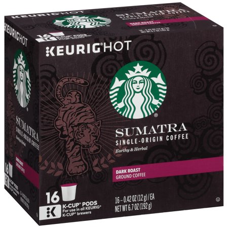 Keurig Hot Starbucks Sumatra Dark Roast Ground Coffee  0 42 Oz  16 Count