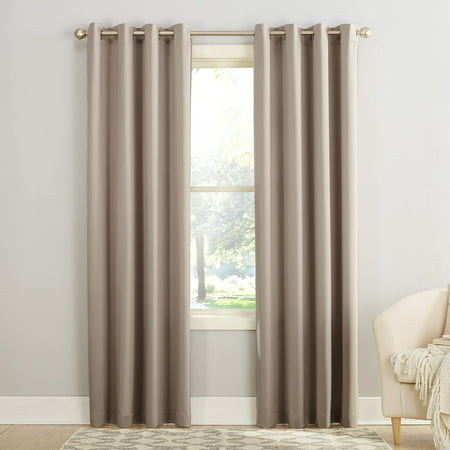 Sun Zero Madison Room Darkening Grommet Curtain Panel ()