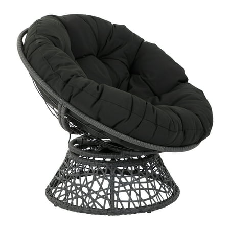 - OSP Designs by Office Star Products Papasan Chair with Black Cushion and Black Frame