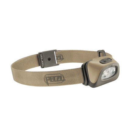 PETZL - TACTIKKA + Headlamp, 250 lumens, Ultra-Compact Headlamp Desert One Size ()