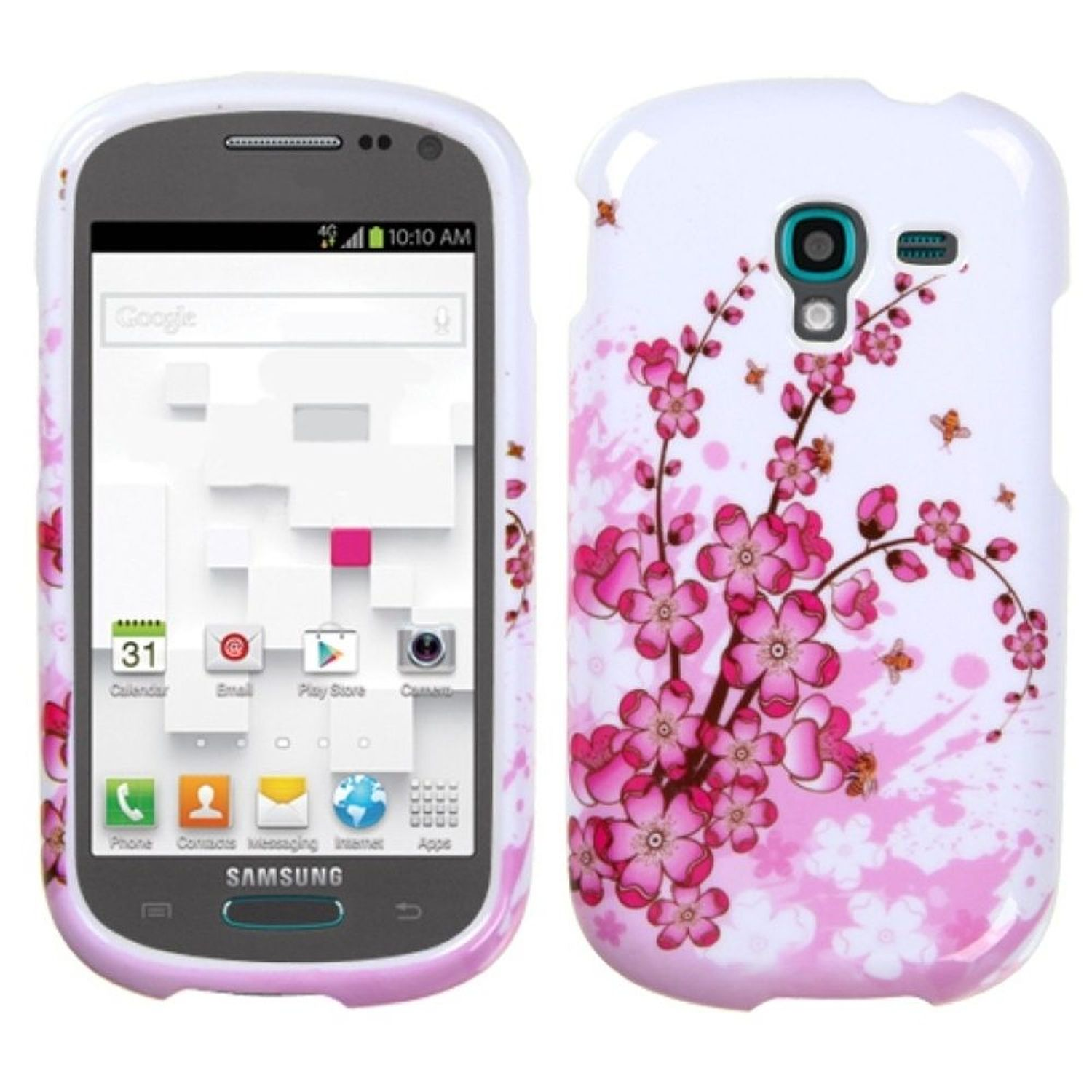 Insten Spring Flowers Phone Protector Case For SAMSUNG T599 Galaxy Exhibit