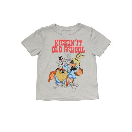 052540c7cb912c Toddler Boys Bugs Bunny Daffy Duck T-shirt Gray Old School Retro Cartoon