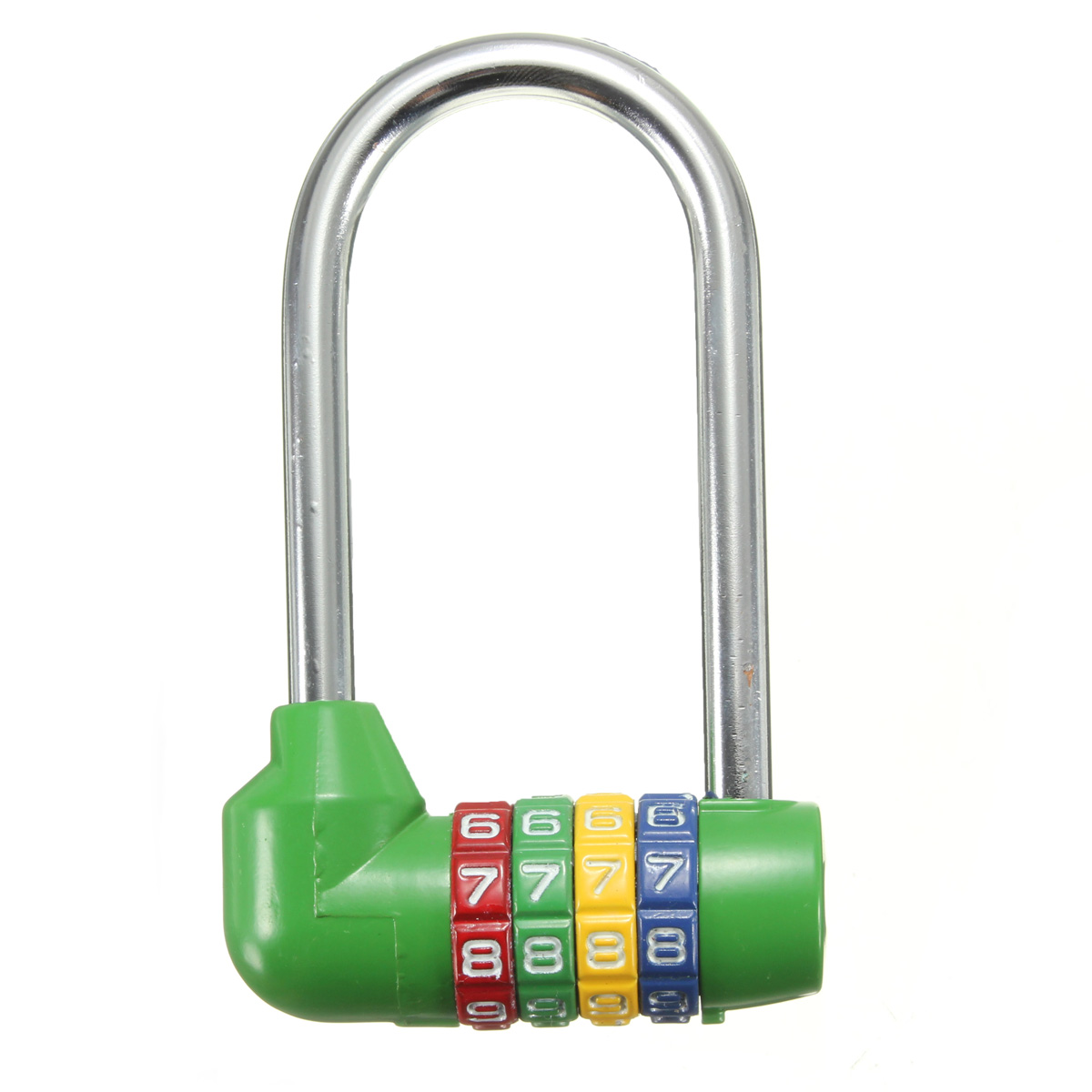 Long Digit Safety Combination Lock 4 Number Code Dial Padlock Security Luggage Drawer Cabinet Suitcase Wardrobe Home Travel Anti-theft
