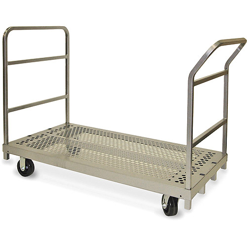 "Heavy Duty Swivel Platform Truck with 5"" x 2"" Phenolic Casters, 3964"