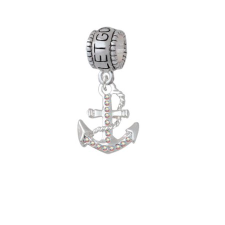 Ab Crystal Anchor   Let Go Let God Charm Bead