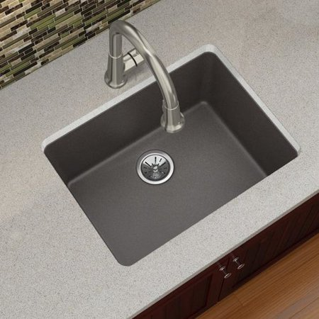 Elkay Elxu2522 Quartz Luxe 25 Single Basin Kitchen Sink For Undermount Installation