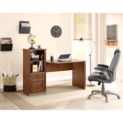 Whalen Belmont Two In One Work Station, Brown