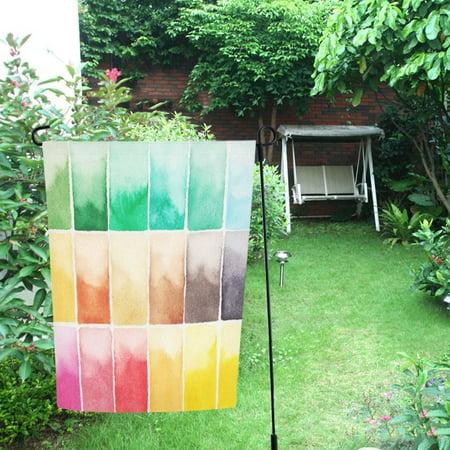 MYPOP Watercolor Palette Garden Flag Outdoor Flag Decoration 12x18 inches ()