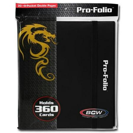 BCW Pro-Folio 9-Pocket Card Protector, Black - Baseball Card Holders Walmart