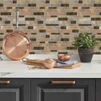 RoomMates Modern Long Stone Tile Peel and Stick Backsplash