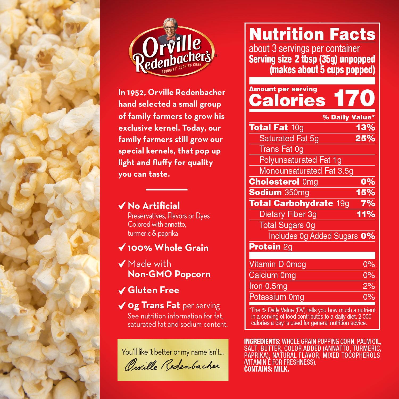 Orville Redenbacher S Movie Theater Er Microwave Popcorn Tub 3 9 Oz Family Size