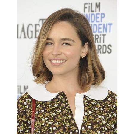 Emilia Clarke At Arrivals For 2016 Film Independent Spirit Awards   Arrivals 3 Canvas Art     16 X 20