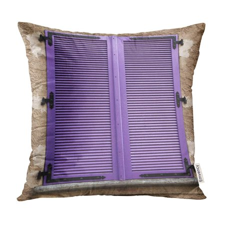 ECCOT Vintage Colored Wooden Window Shutters in Small Hilltop Village The South of France Old Pillow Case Pillow Cover 20x20