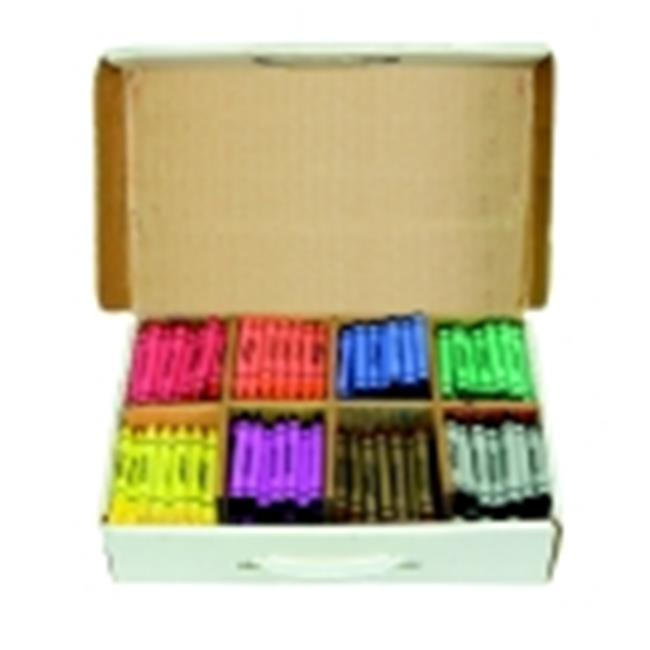 Prang 4 x 0.43 in. Large Non-Toxic Crayon Master Pack, Pack - 400