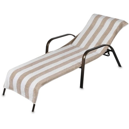 Beach Towel Style Terry Stripe Chaise Lounge Cover 28