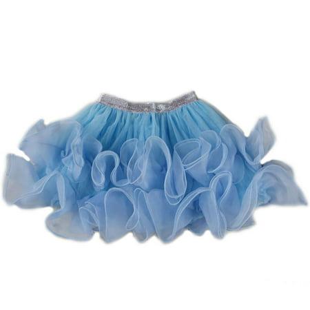 Wenchoice Blue Wave Trim Tutu SkirtGirls -