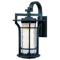 Maxim Lighting 30484WGBO Oakville 1-Light Outdoor Wall Lantern - Black Oxide