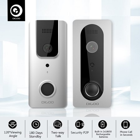 DIGOO 1080P WiFi Wireless Ring Doorbell with Camera ,Waterproof Smart Home Night Visual Video Door Bell,Security Camera Phone App Control, Intercom Alarm Clear Night Vision