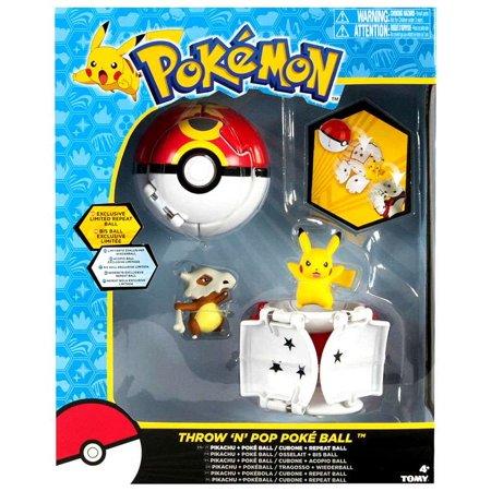 Pikachu & Poke Ball / Cubone & Repeat Ball Figure Set Pokemon](Pokemon Balls That Open)