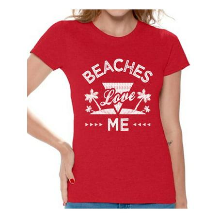 cb48a6f86b05 Awkward Styles Beaches Love Me Tshirt for Women Beach Shirts Funny Beach Outfit  Summer Shirt Vacation Tshirt Vacay Vibes Shirt Beach Vibes T Shirt Summer .