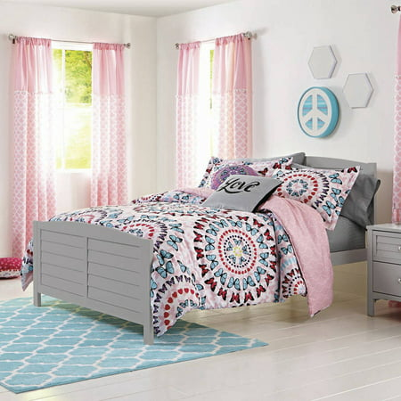 Better homes and gardens kids butterfly circles medallion bedding comforter set for Better homes and gardens bed in a bag