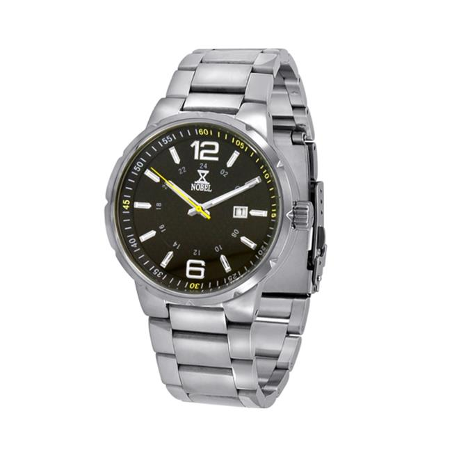 NobelWatchCo EZ 625 BR Black-Yellow Stainless Watch