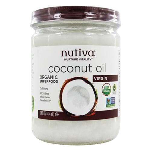 Nutiva Coconut Oil Organic Super Food Virgin - 14 Oz, 6 Pack