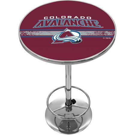 NHL Chrome Pub Table, Colorado Avalanche by