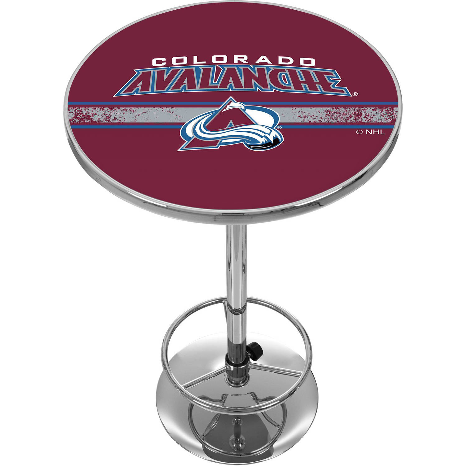NHL Chrome Pub Table, Colorado Avalanche
