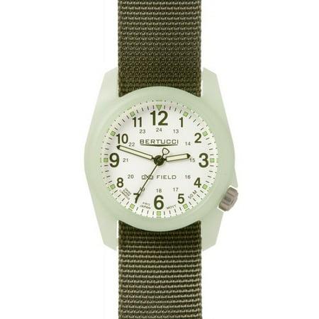 - 11028 Men's DX3 Field White Dial Defender Drab Olive Green Nylon Strap Watch