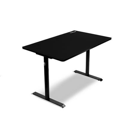 Arozzi Arena Leggero Gaming Desk with Full Surface Mousepad - Black