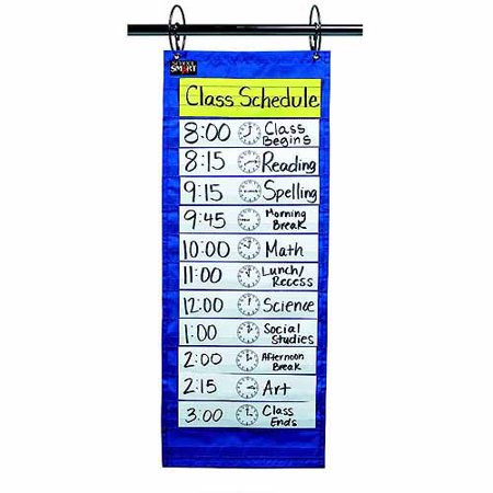 School Smart Classroom Schedule Pocket Chart