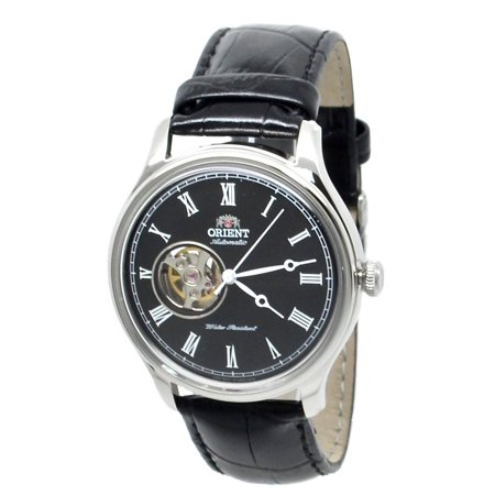 Open Heart FAG00003B0 Automatic Black Leather Band Men's (Automatic Open Heart)