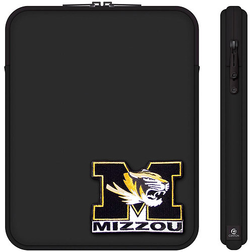 "Centon 10"" Classic Black Tablet Sleeve University of Missouri"