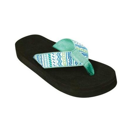 f32716ca4 Tidewater Sandals - Women s Tidewater Sandals Tribal Print Flip Flop -  Walmart.com