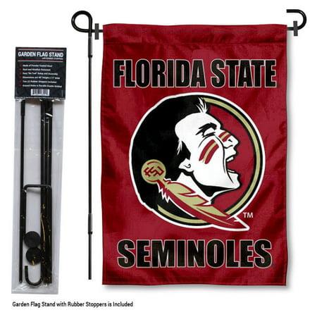 FSU Seminoles Garden Flag and Flag Holder - Fsu Decor