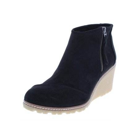 Toms Womens Avery Microfiber Booties Wedge Boots (Toms Clearance Outlet)