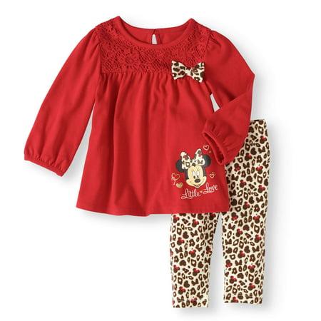 25d6ceeb0 Disney Newborn Baby Girls  Top and Legging Set - Walmart.com