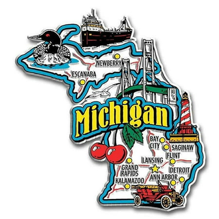 - Michigan Jumbo State Map Fridge Magnet