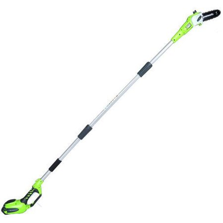 Greenworks 8-Inch 40V Cordless Pole Saw, 2.0 AH Battery Included 20672