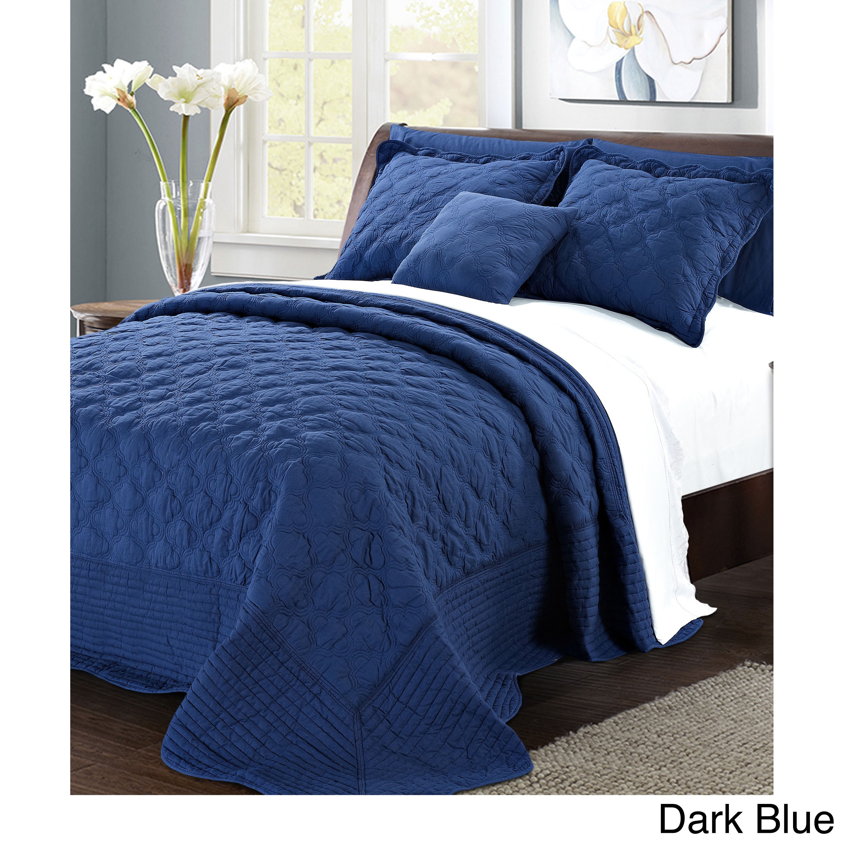 Serenta 4 Piece Quilted Cotton Coverlet Set