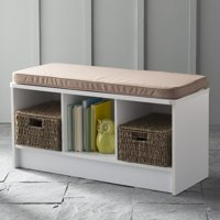 ClosetMaid 3-Cube Entryway Storage Bench, Multiple Finishes