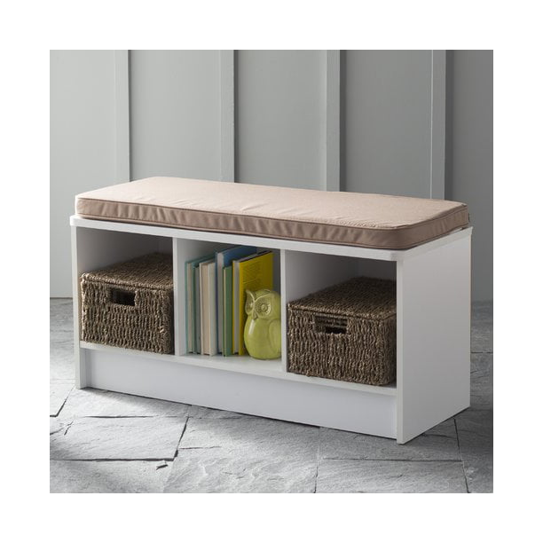ClosetMaid 3-Cube Entryway Storage Bench, White